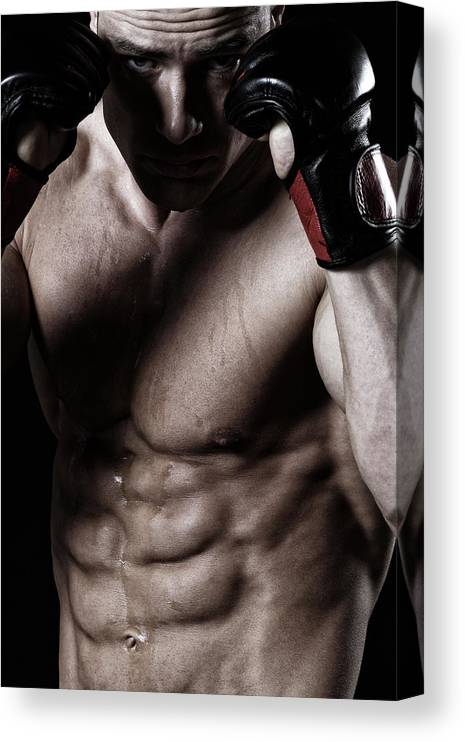 Toughness Canvas Print featuring the photograph Powerful Fighter by Vuk8691