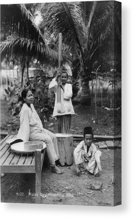 Cooking Utensil Canvas Print featuring the photograph Preparing Rice by Spencer Arnold Collection