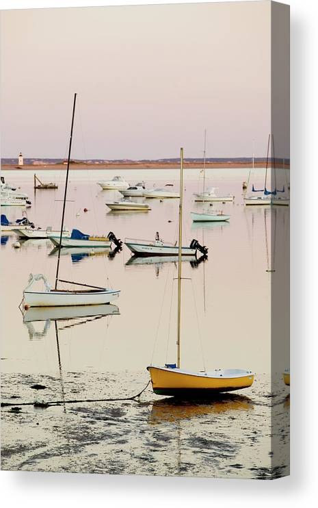 Sailboat Canvas Print featuring the photograph Provincetown Harbor by Walter Bibikow