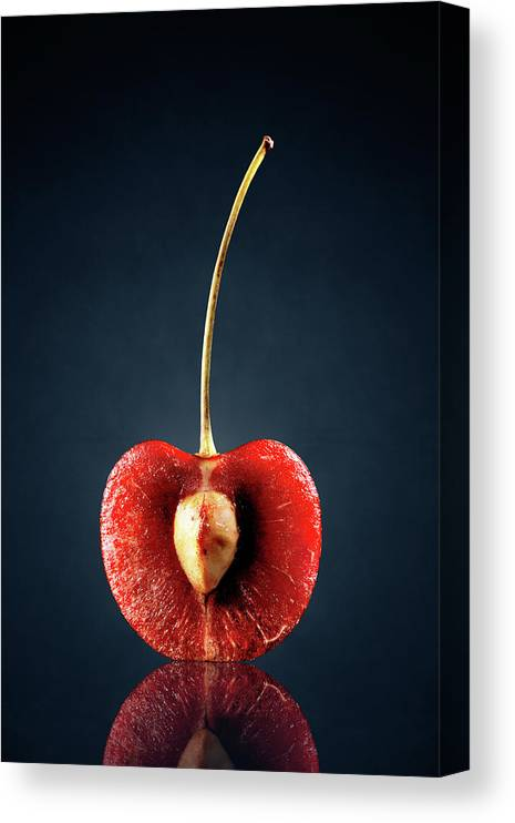 Cherry Canvas Print featuring the photograph Red Cherry Still Life by Johan Swanepoel