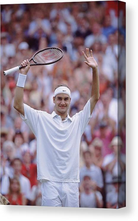 Tennis Canvas Print featuring the photograph Roger Federer by Clive Brunskill