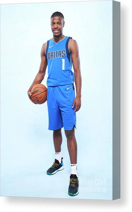 Nba Pro Basketball Canvas Print featuring the photograph Rookie Photo Shoot 2017 by Jennifer Pottheiser