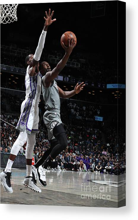 Nba Pro Basketball Canvas Print featuring the photograph Sacramento Kings V Brooklyn Nets by Nathaniel S. Butler