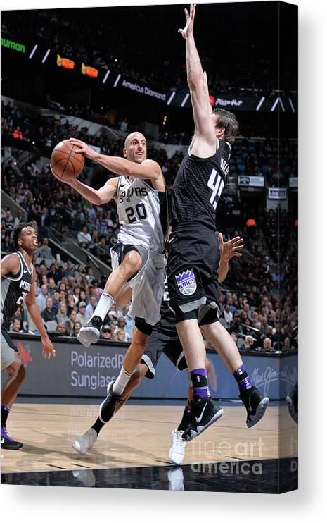 Nba Pro Basketball Canvas Print featuring the photograph Sacramento Kings V San Antonio Spurs by Mark Sobhani
