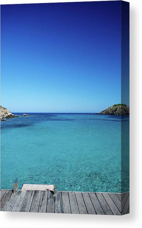 Scenics Canvas Print featuring the photograph Sea by Cactusoup