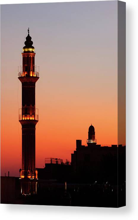Built Structure Canvas Print featuring the photograph Sehidiye Mosque Minaret by Wu Swee Ong