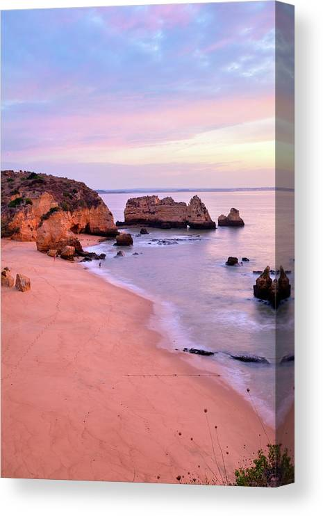 Algarve Canvas Print featuring the photograph Serene Pastel Shores by M Swiet Productions