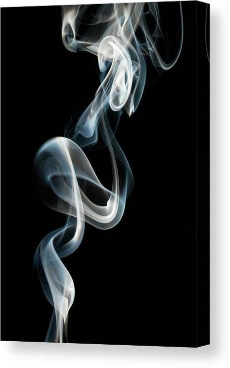 Black Background Canvas Print featuring the photograph Smoke by Vando Nascimento