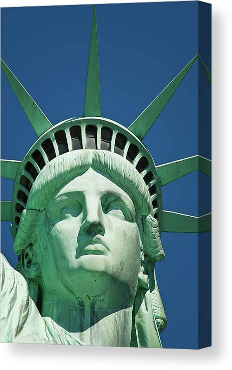 Crown Canvas Print featuring the photograph Statue Of Liberty by Tetra Images