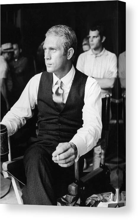 Director Canvas Print featuring the photograph Thomas Crown by Hulton Archive