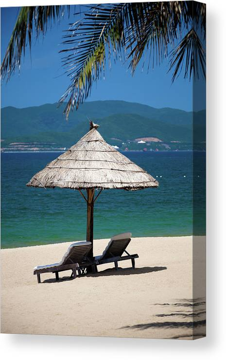 Vacations Canvas Print featuring the photograph Tropical Holidays On Nha Trang Beach by Fototrav