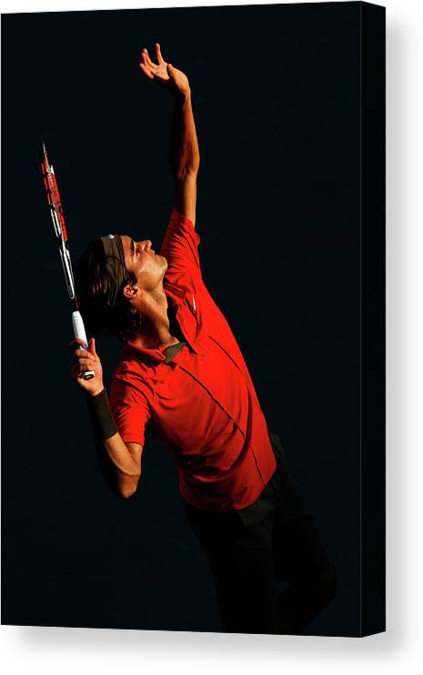 Tennis Canvas Print featuring the photograph U.s. Open - Day 9 by Al Bello