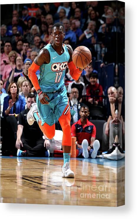 Nba Pro Basketball Canvas Print featuring the photograph Washington Wizards V Oklahoma City by Zach Beeker