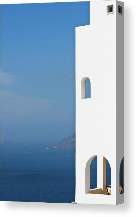 Greece Canvas Print featuring the photograph Windows To The Blue by Arturbo