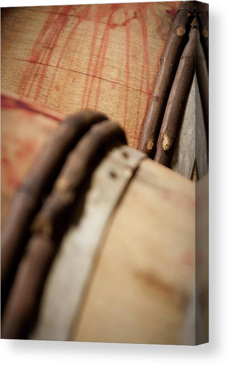 Fermenting Canvas Print featuring the photograph Wine Barrels by Chrispecoraro