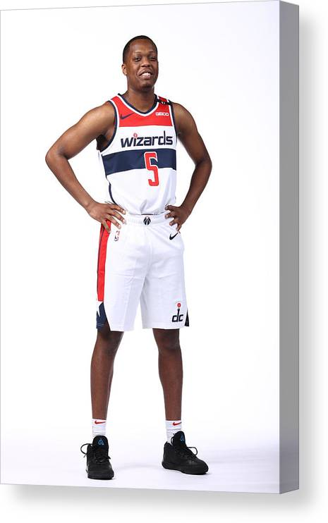Media Day Canvas Print featuring the photograph 2020-21 Washington Wizards Content Day by Ned Dishman