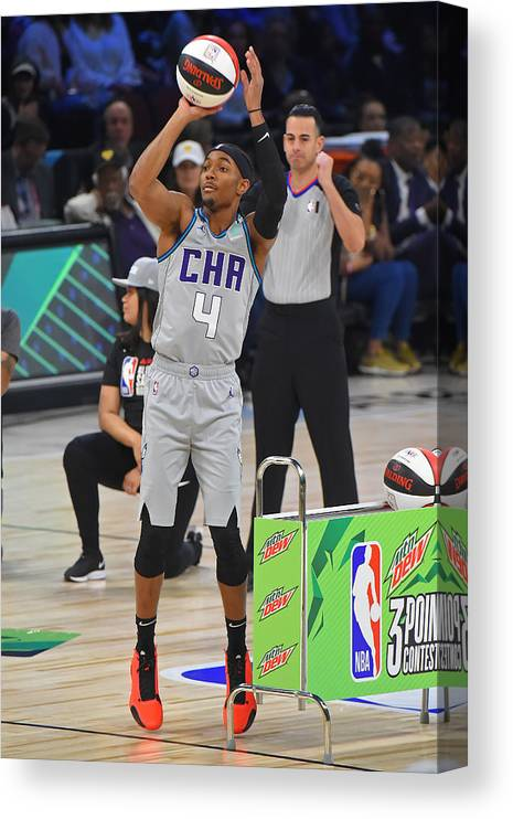 Nba Pro Basketball Canvas Print featuring the photograph 2020 NBA All-Star - MTN DEW 3-Point Contest by Bill Baptist