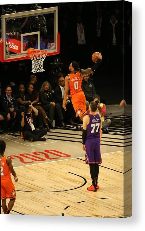 Nba Pro Basketball Canvas Print featuring the photograph 2020 NBA All-Star - Rising Stars Game by David Sherman