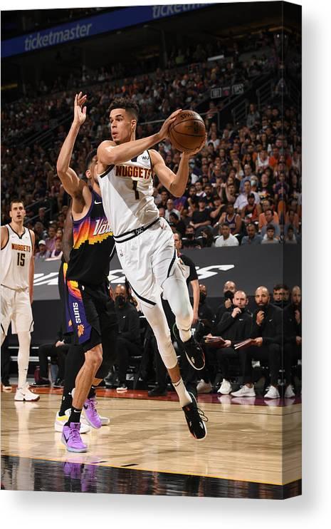 Playoffs Canvas Print featuring the photograph 2021 NBA Playoffs - Denver Nuggets v Phoenix Suns by Garrett Ellwood