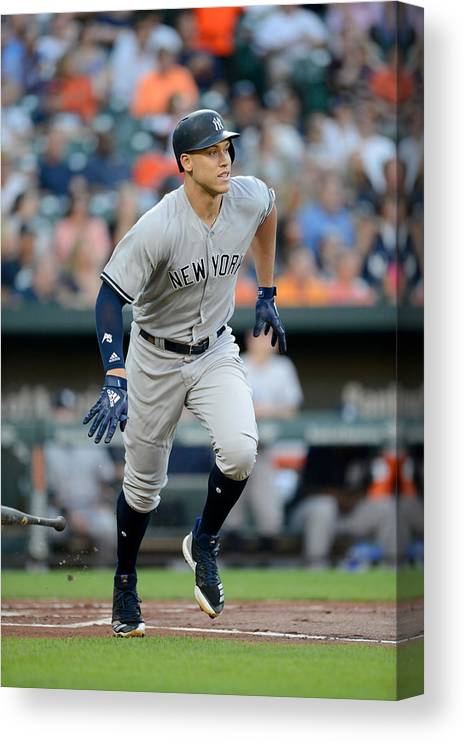 Game Two Canvas Print featuring the photograph Aaron Judge by G Fiume
