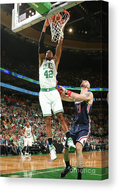Playoffs Canvas Print featuring the photograph Al Horford by Ned Dishman