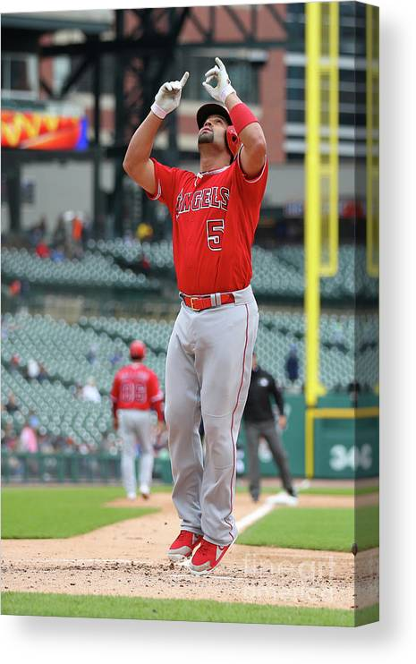 People Canvas Print featuring the photograph Albert Pujols by Gregory Shamus