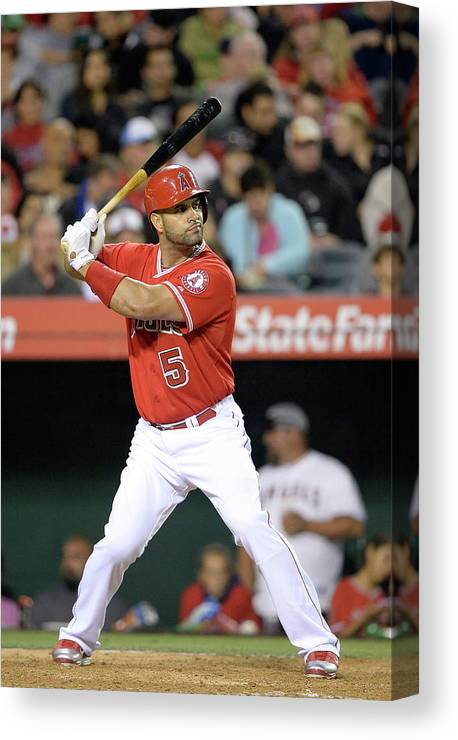 American League Baseball Canvas Print featuring the photograph Albert Pujols by Harry How