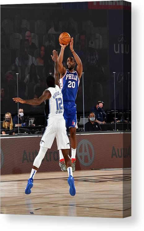 Nba Pro Basketball Canvas Print featuring the photograph Alec Burks by Jesse D. Garrabrant