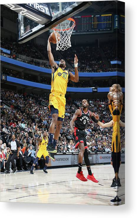 Nba Pro Basketball Canvas Print featuring the photograph Alec Burks by Melissa Majchrzak
