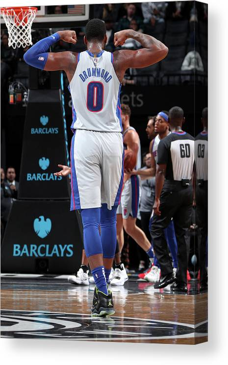 Nba Pro Basketball Canvas Print featuring the photograph Andre Drummond by Nathaniel S. Butler