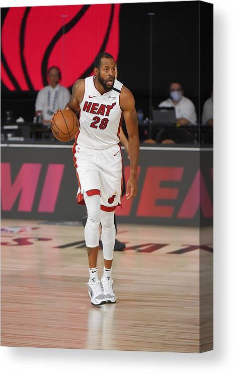 Nba Pro Basketball Canvas Print featuring the photograph Andre Iguodala by Bill Baptist