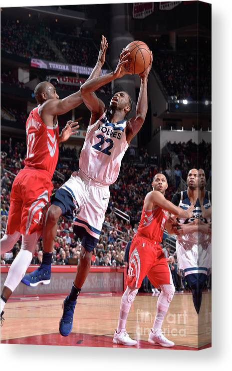 Nba Pro Basketball Canvas Print featuring the photograph Andrew Wiggins by Bill Baptist