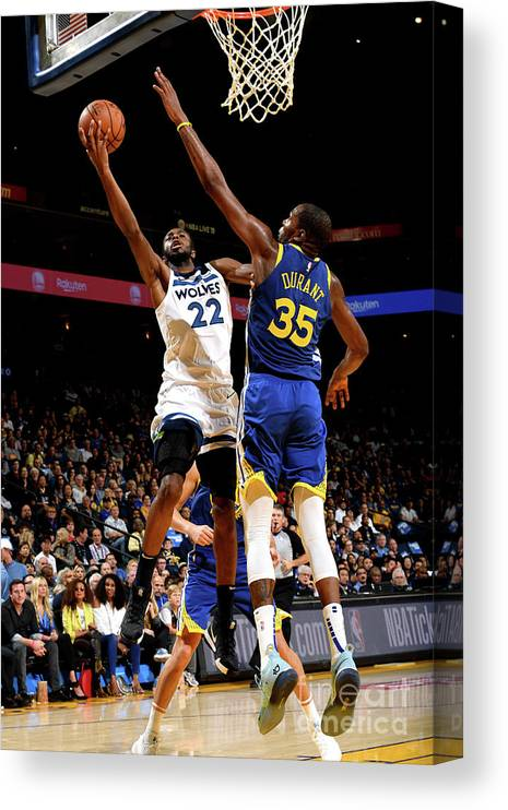 Nba Pro Basketball Canvas Print featuring the photograph Andrew Wiggins by Noah Graham