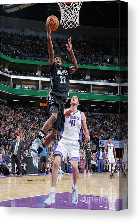 Nba Pro Basketball Canvas Print featuring the photograph Andrew Wiggins by Rocky Widner