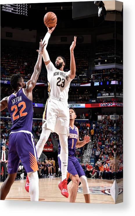 Smoothie King Center Canvas Print featuring the photograph Anthony Davis by Bill Baptist