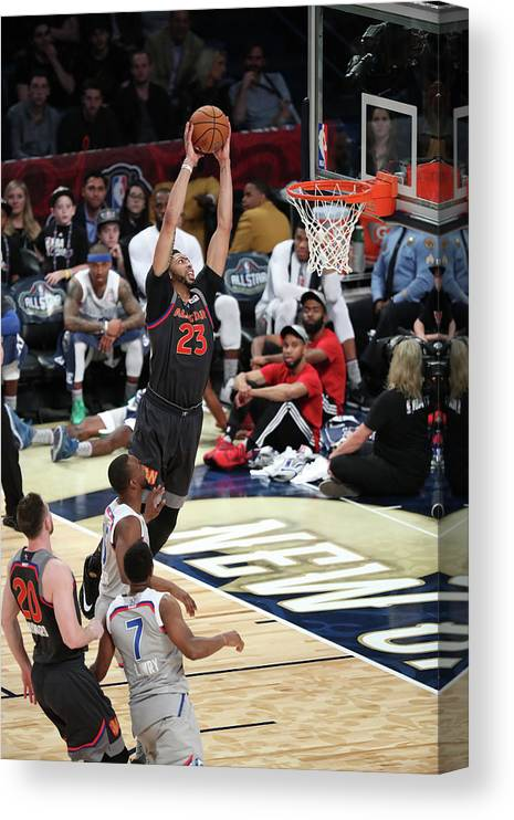 Smoothie King Center Canvas Print featuring the photograph Anthony Davis by Joe Murphy