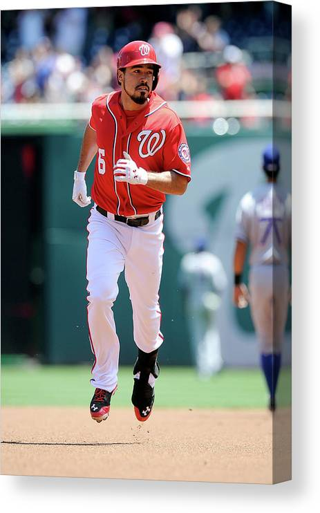 American League Baseball Canvas Print featuring the photograph Anthony Rendon by Greg Fiume