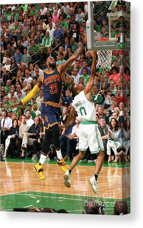 Playoffs Canvas Print featuring the photograph Avery Bradley and Lebron James by Nathaniel S. Butler