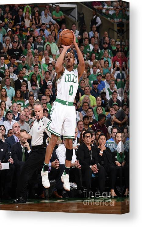 Playoffs Canvas Print featuring the photograph Avery Bradley by Brian Babineau
