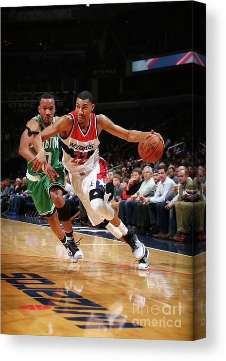Nba Pro Basketball Canvas Print featuring the photograph Avery Bradley by Ned Dishman