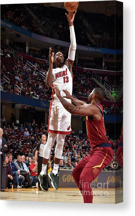 Nba Pro Basketball Canvas Print featuring the photograph Bam Adebayo by David Liam Kyle