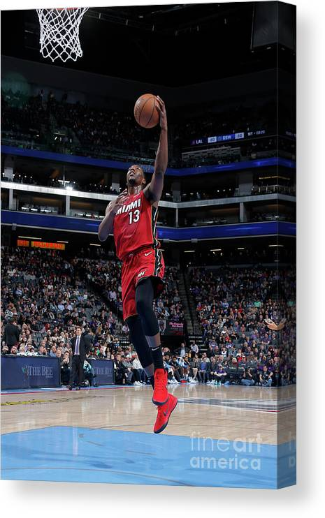 Nba Pro Basketball Canvas Print featuring the photograph Bam Adebayo by Rocky Widner