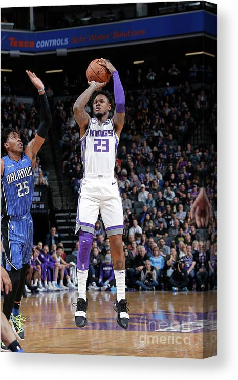 Nba Pro Basketball Canvas Print featuring the photograph Ben Mclemore by Rocky Widner