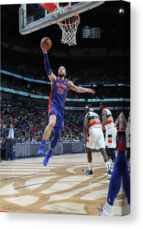 Smoothie King Center Canvas Print featuring the photograph Blake Griffin by Layne Murdoch Jr.