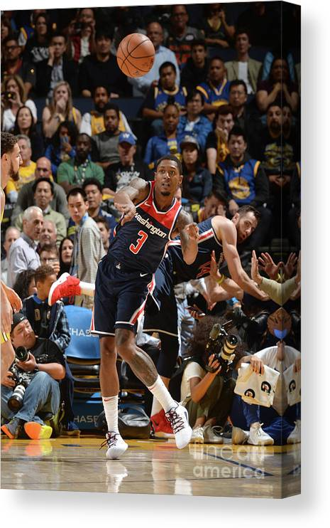 Nba Pro Basketball Canvas Print featuring the photograph Bradley Beal by Noah Graham