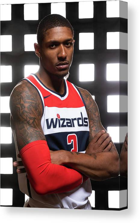 Media Day Canvas Print featuring the photograph Bradley Beal by Stephen Gosling