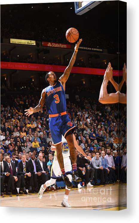 Nba Pro Basketball Canvas Print featuring the photograph Brandon Jennings by Noah Graham