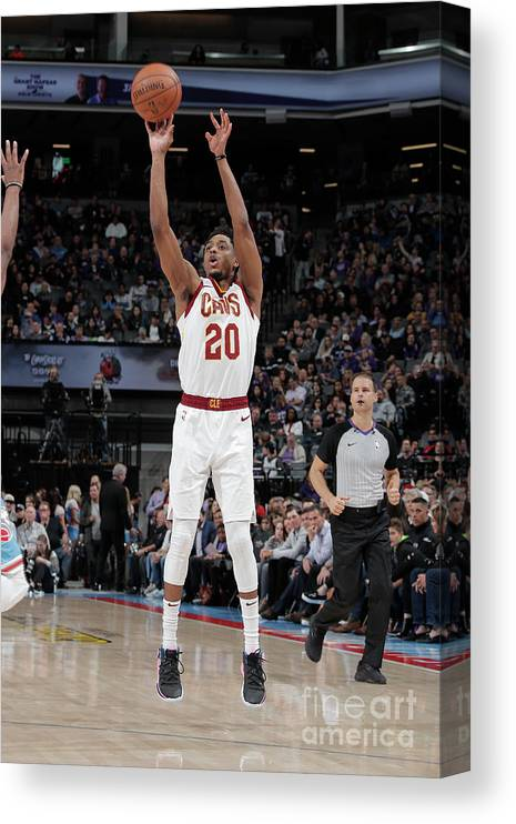 Nba Pro Basketball Canvas Print featuring the photograph Brandon Knight by Rocky Widner