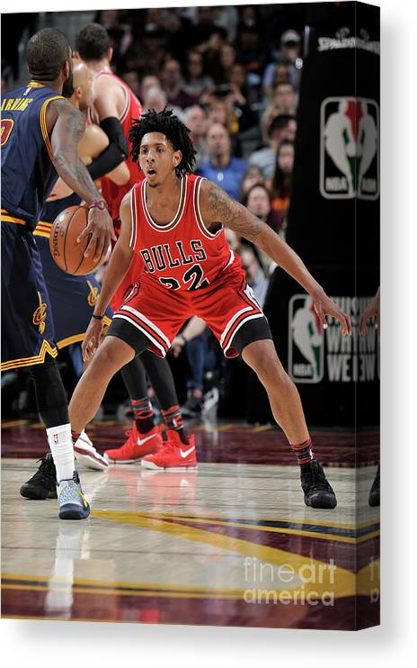 Nba Pro Basketball Canvas Print featuring the photograph Cameron Payne by David Liam Kyle