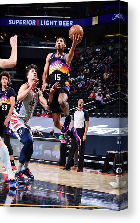 Nba Pro Basketball Canvas Print featuring the photograph Cameron Payne by Michael Gonzales